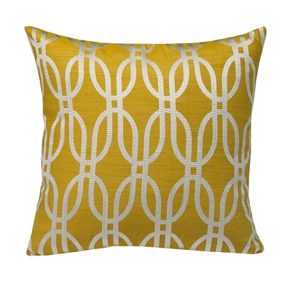 Urban Loft Oval Geo Throw Pillow Color: Yellow