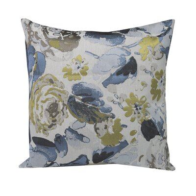 Urban Loft Painted Flowers Throw Pillow