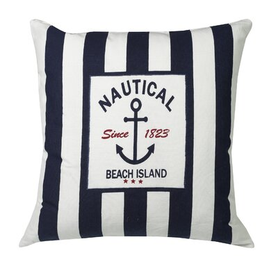 Urban Loft Nautical Stripe Be Throw Pillow Color: Blue