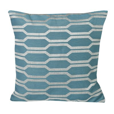 Urban Loft Hexagon Throw Pillow Color: Blue