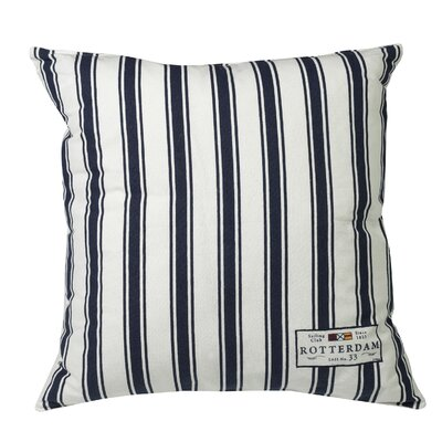 Urban Loft Nautical Just Stripe 100% Cotton Throw Pillow