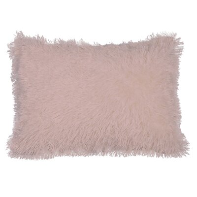 Urban Loft Shag Throw Pillow Color: Pink