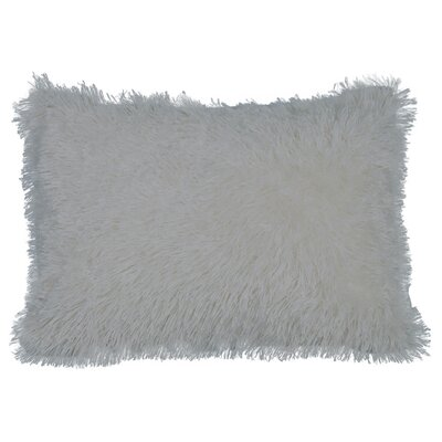 Urban Loft Shag Lumbar Pillow Color: Gray