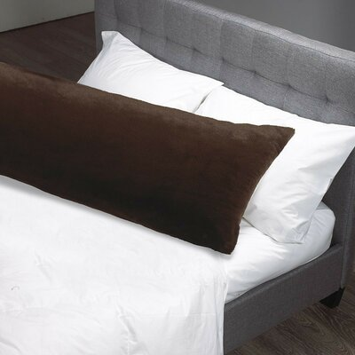 Faux Fur Body Pillow Case Color: Espresso