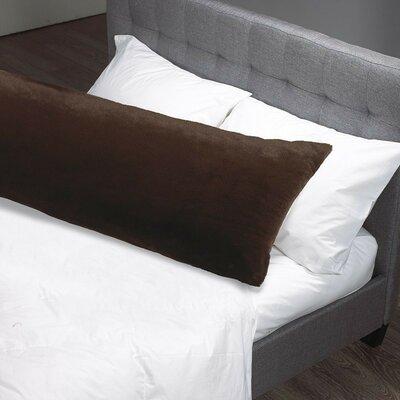 Faux Fur Body Pillow Case Color: Espresso