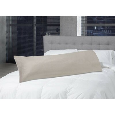 Faux Fur Body Pillow Case Color: Latte