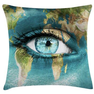 Urban Loft Prints Earth Eye Throw Pillow