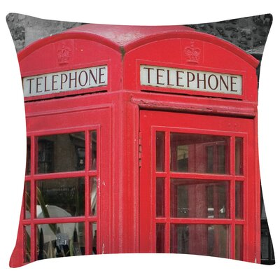 Urban Loft Prints Phonebooth Throw Pillow
