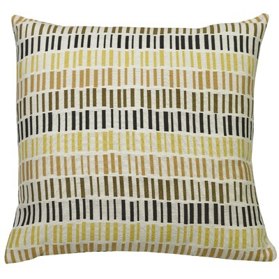 Urban Loft Dashes Throw Pillow Color: Yellow/Gray