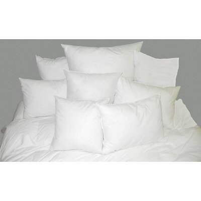 Square White 100% Cotton Pillow Insert Size: 27 H x 27 W
