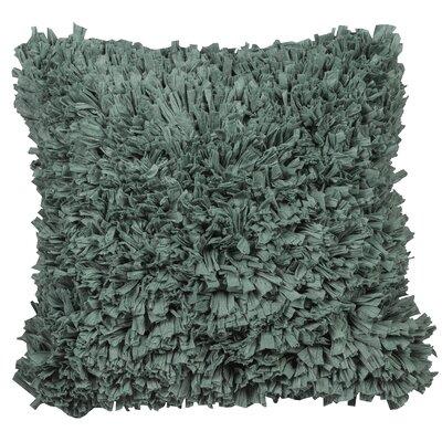 Urban Loft Paper Shag Throw Pillow Color: Teal