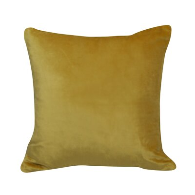 Urban Loft Velvet Throw Pillow Color: Yellow