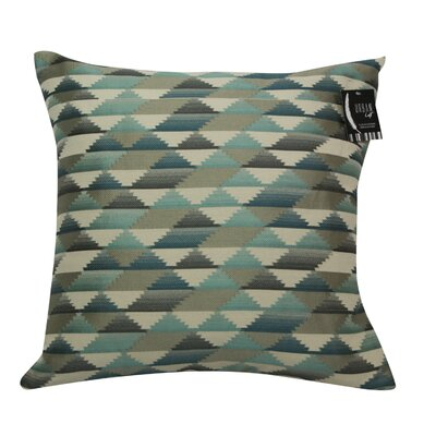 Urban Loft Jagged Edge Throw Pillow Color: Blue