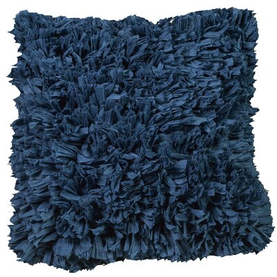 Urban Loft Paper Shag Throw Pillow Color: Blue