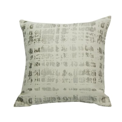 Urban Loft Cotton Throw Pillow Color: Silver
