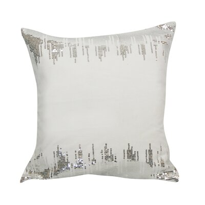 Urban Loft Sequin Throw Pillow Color: White