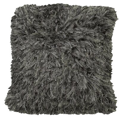 Urban Loft Shiny Shag Throw Pillow Color: Gray