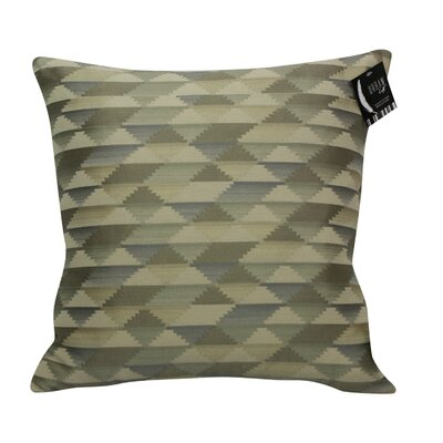 Urban Loft Jagged Edge Throw Pillow Color: Silver