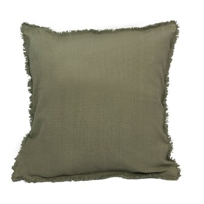 Urban Loft Fringe Throw Pillow Color: Khaki