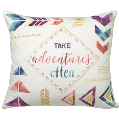 Urban Loft Take Adventurous 100% Cotton Throw Pillow