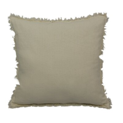 Urban Loft Fringe Throw Pillow Color: Cream
