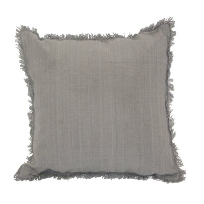 Urban Loft Fringe Throw Pillow Color: Gray