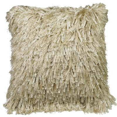 Urban Loft Shiny Shag Throw Pillow Color: Cream