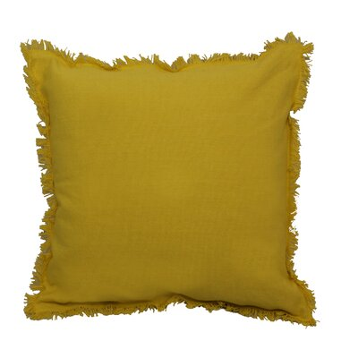 Urban Loft Fringe Throw Pillow Color: Yellow