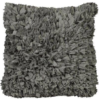 Urban Loft Paper Shag Throw Pillow Color: Gray