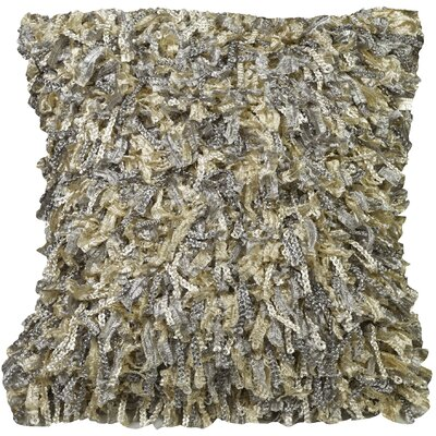Urban Loft Shiny Shag Throw Pillow Color: Smoke
