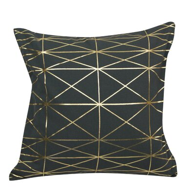 Urban Loft Foil Throw Pillow Color: Charcoal