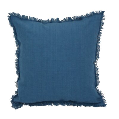 Urban Loft Fringe Throw Pillow Color: Blue