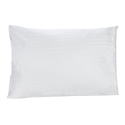 Cotton Damask Stripe Pillow Protector Size: Queen