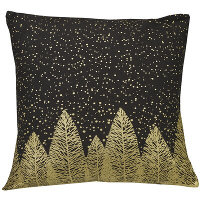 Urban Loft Indoor/Outdoor Throw Pillow Color: Black