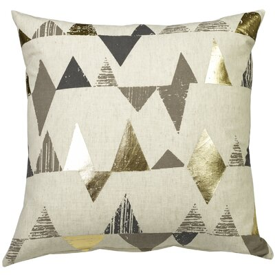 Urban Loft Foil Triangles Throw Pillow