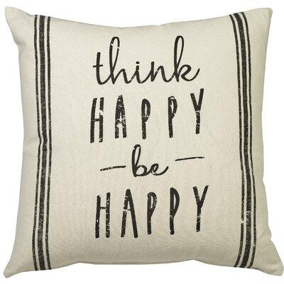 Urban Loft Think Happy Throw Pillow