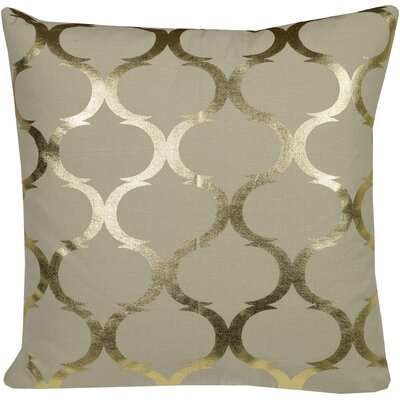 Urban Loft Woven Foil Throw Pillow Color: Gold