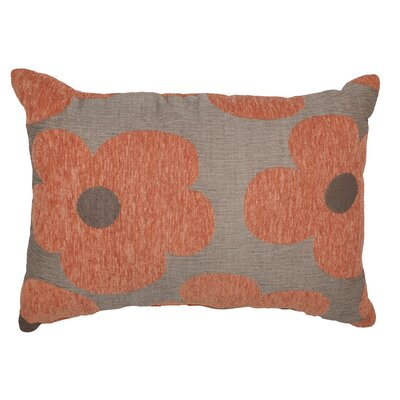 Urban Loft Chenille Floral Throw Pillow Color: Orange