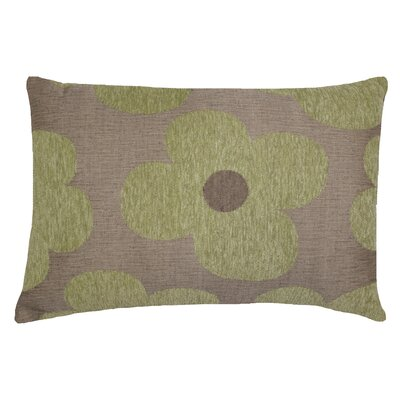 Urban Loft Chenille Floral Throw Pillow Color: Green