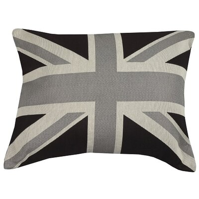 Urban Loft Union Jack Throw Pillow Color: Black / White