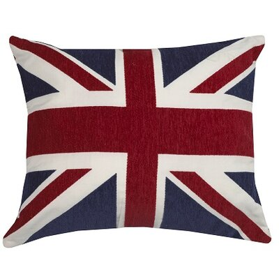 Urban Loft Union Jack Throw Pillow Color: Red