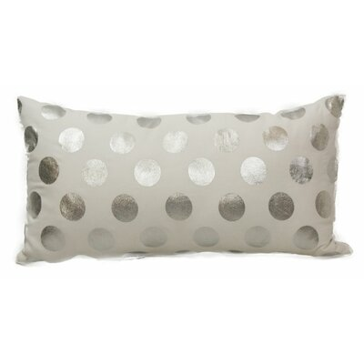 Emma and Violet Foil Dots Lumbar Pillow Color: Silver