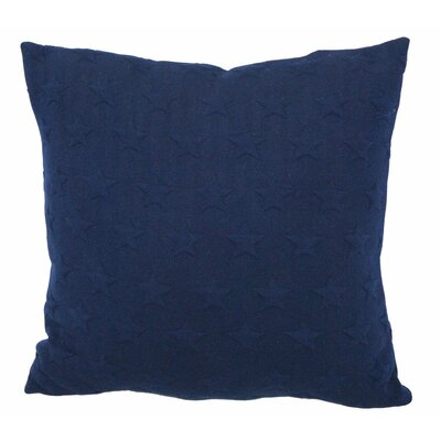 Emma and Violet Star Brilliant Throw Pillow Color: Navy