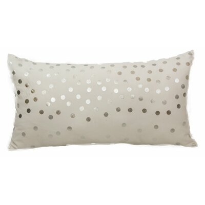 Emma and Violet Lumbar Pillow Color: Silver