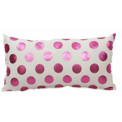 Emma and Violet Foil Dots Lumbar Pillow Color: Pink