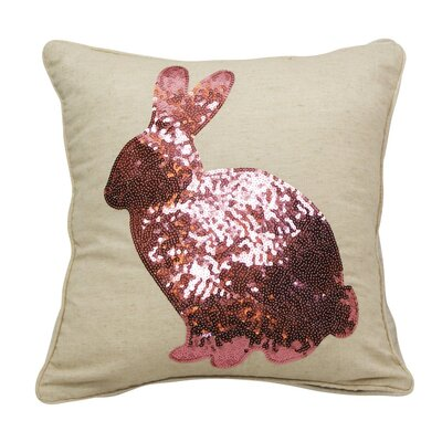 Emma and Violet Sequin Bunny Throw Pillow