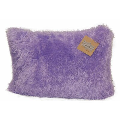 Emma and Violet Shag Lumbar Pillow Color: Lavender