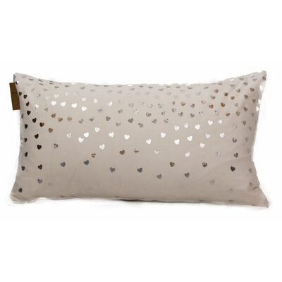 Emma and Violet Foil Hearts Lumbar Pillow Color: Silver