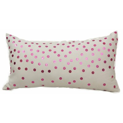 Emma and Violet Lumbar Pillow Color: Pink