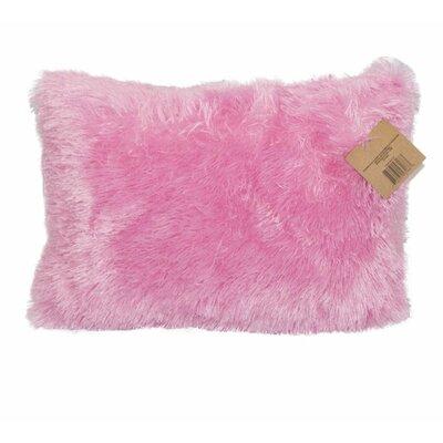 Emma and Violet Shag Lumbar Pillow Color: Pink